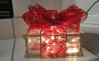 plain glass block to glowing gift