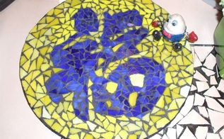good fortune inlay glass mosaic