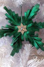 ribbon quilling comb ornament, christmas decorations, crafts, seasonal holiday decor