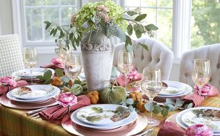 how to set an unusual thanksgiving table, how to, painted furniture