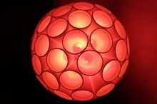 best diy home decor light ball using thermocol glasses, home decor