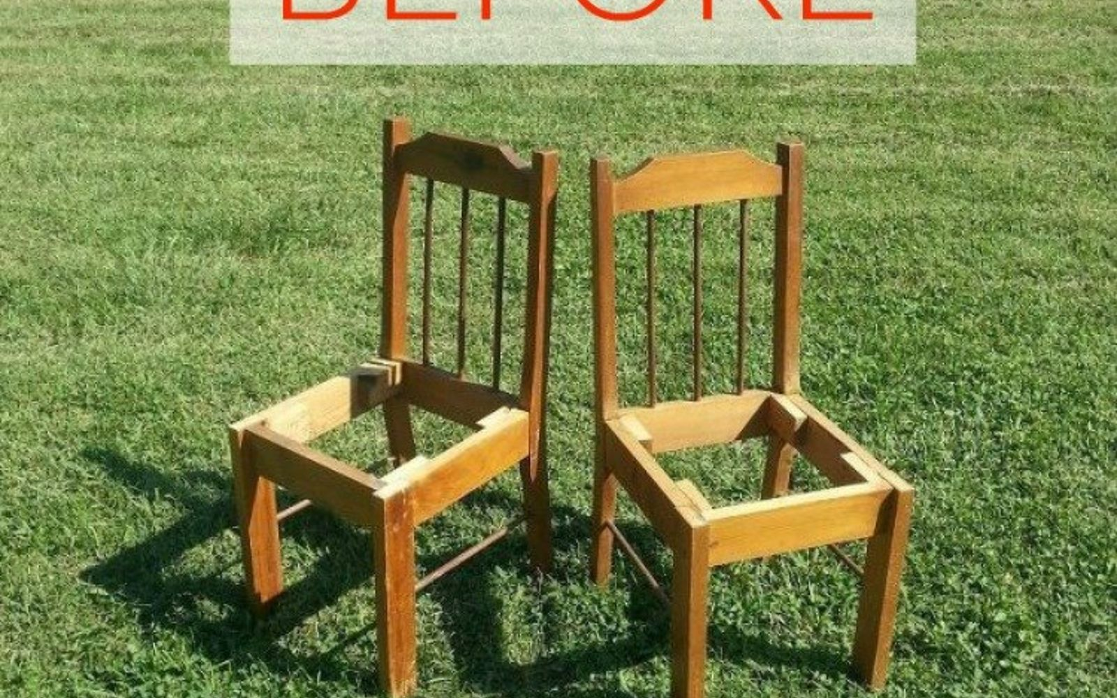 s 10 surprising ways to turn old furniture into extra seating, painted furniture, Before two broken wooden chairs