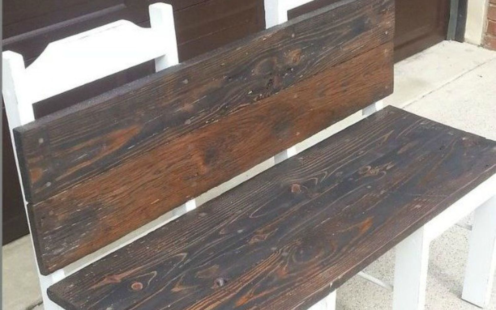 s 10 surprising ways to turn old furniture into extra seating, painted furniture, After A classy wooden bench