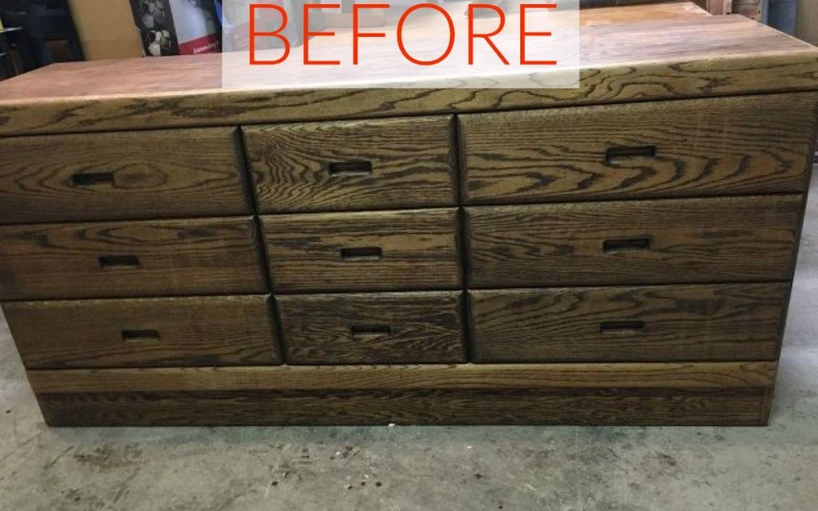 s 10 surprising ways to turn old furniture into extra seating, painted furniture, Before A plain yet sold dresser
