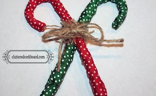 foil homespun candy cane ornaments, christmas decorations, seasonal holiday decor