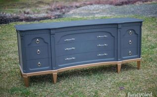 gold dipped navy dresser set, painted furniture