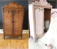 an armoire fit for a princess, painted furniture