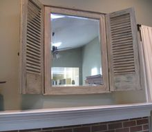 transform a mirror with shutters, curb appeal, home decor