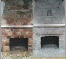 Ugly Stone Fireplace Makeover | Hometalk