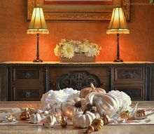 thanksgiving diy shimmery tablescape