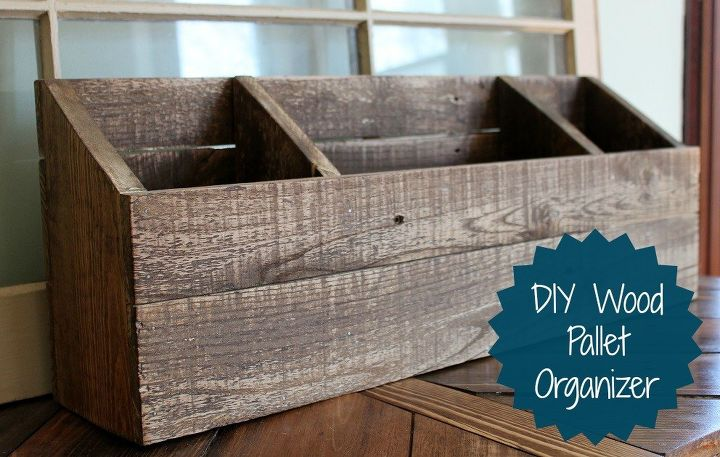 Diy Wood Desk Organizer Mail Sorter, Organizing, Painted