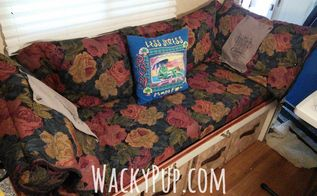 replace tiny dinette with comfy couch and storage, painted furniture, storage ideas, Comfy Couch