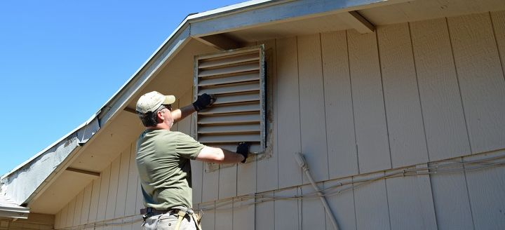 Garage Vent Into Attic : How i converted an attic vent into a quick access hatch