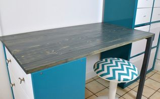 ikea desk hack, painted furniture