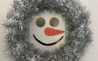 super simple snowman wreath , crafts, wreaths
