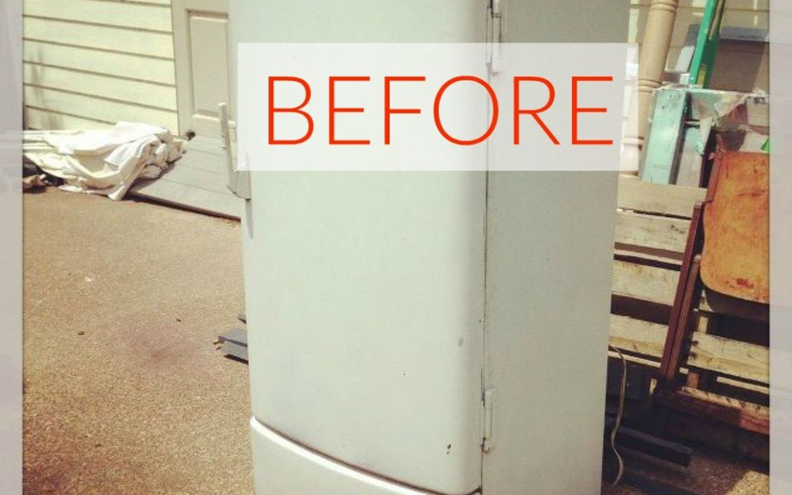 s don t buy new appliances these 9 diy hacks are brilliant, appliances, Before A cute 1950s fridge that still worked