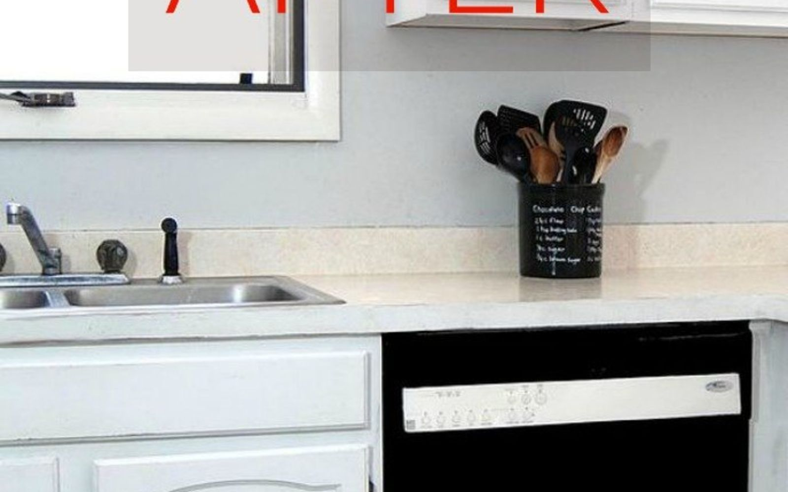 s don t buy new appliances these 9 diy hacks are brilliant, appliances, After A black and white dishwasher to match