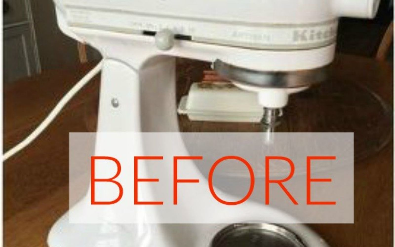 s don t buy new appliances these 9 diy hacks are brilliant, appliances, Before An old white mixer that everyone has
