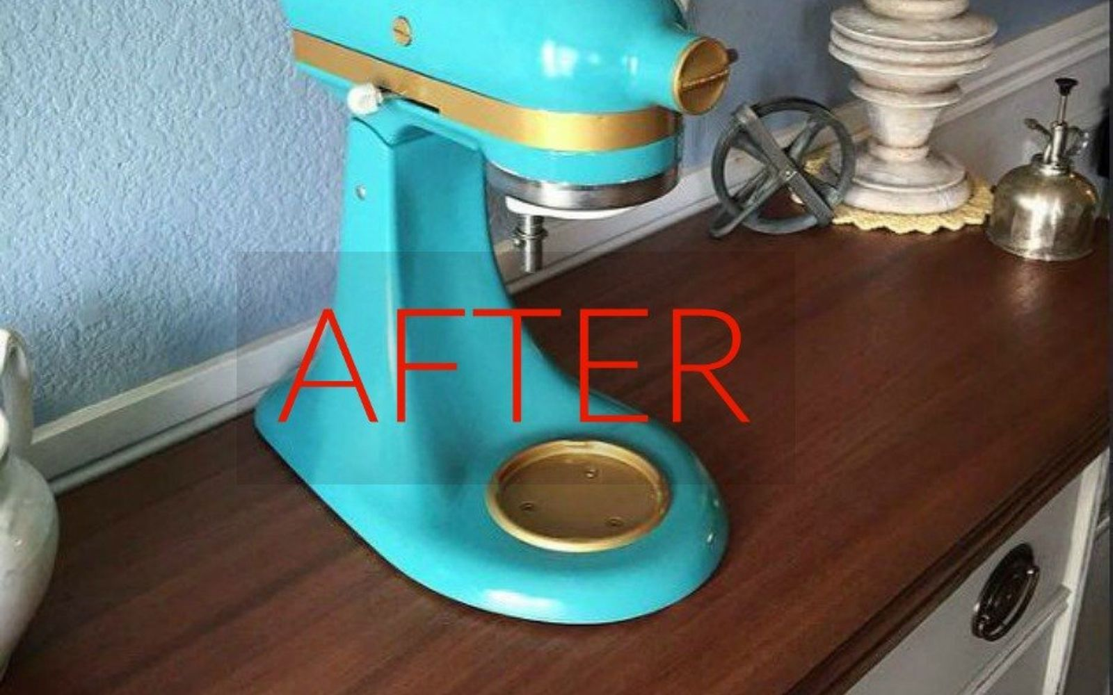 s don t buy new appliances these 9 diy hacks are brilliant, appliances, After A glitz and glammed up stand mixer