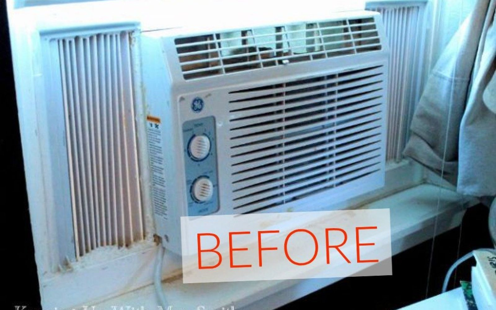 s don t buy new appliances these 9 diy hacks are brilliant, appliances, Before An ugly pop out window unit