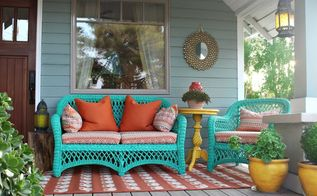 ultimate porch makeover with no sew upholstery , reupholster