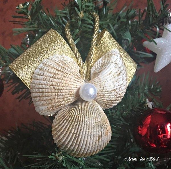 Sea shell angel ornament hometalk for Seashell ornaments diy