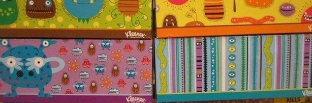 q repurposing designer tissue boxes