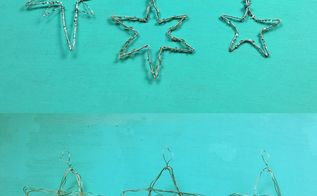 star wire ornaments, christmas decorations, seasonal holiday decor