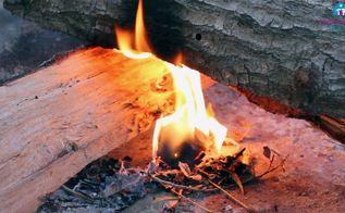 homemade firestarter using egg carton