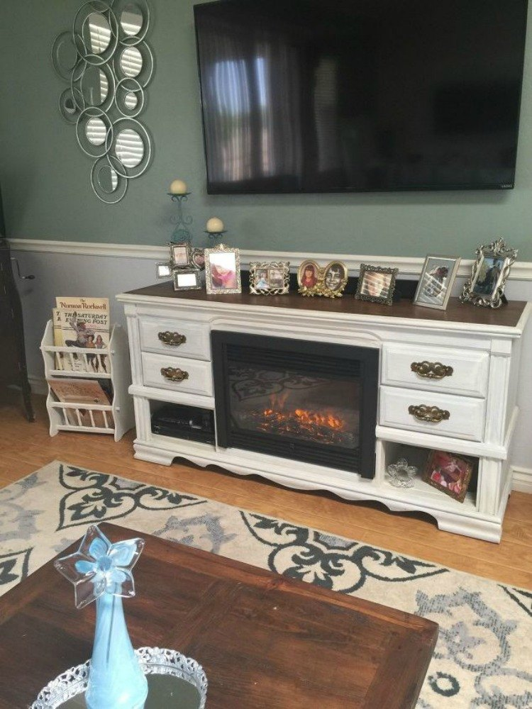 12 shocking things you can do with your old dresser hometalk - Dresser as tv stand in living room ...