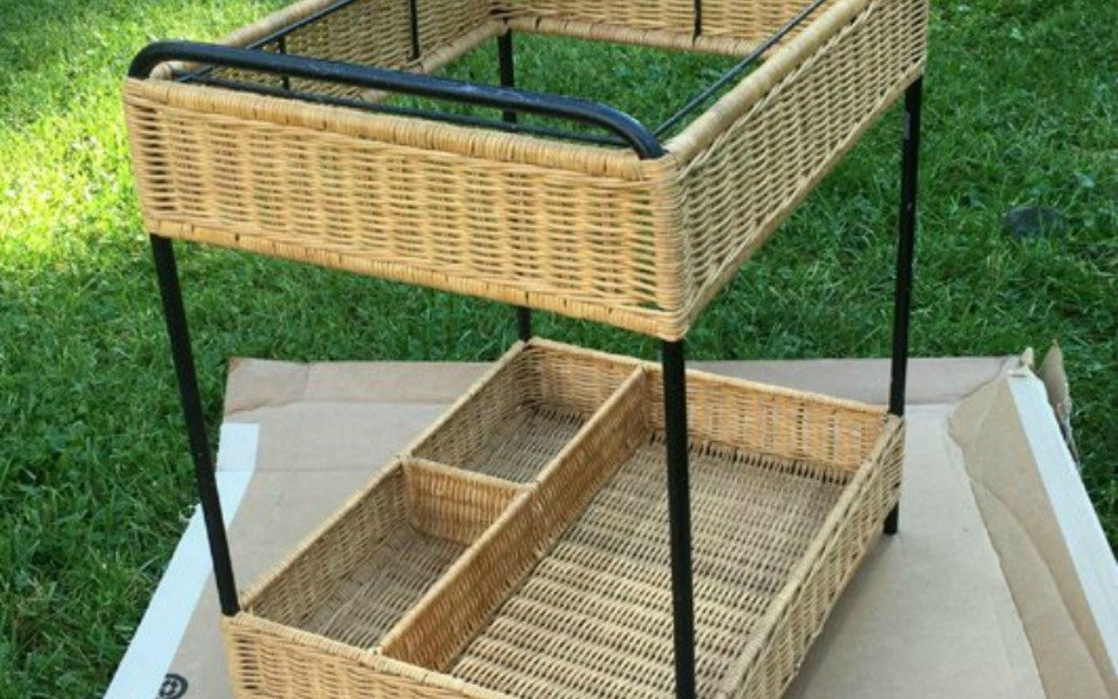 s make wicker trendy again with these brilliant ideas, painted furniture, Before An ugly old wicker cart