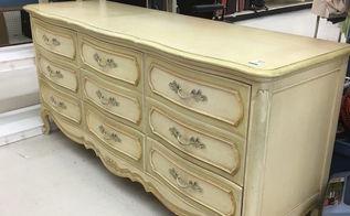 before after diy dresser makeover french provincial dresser, painted furniture