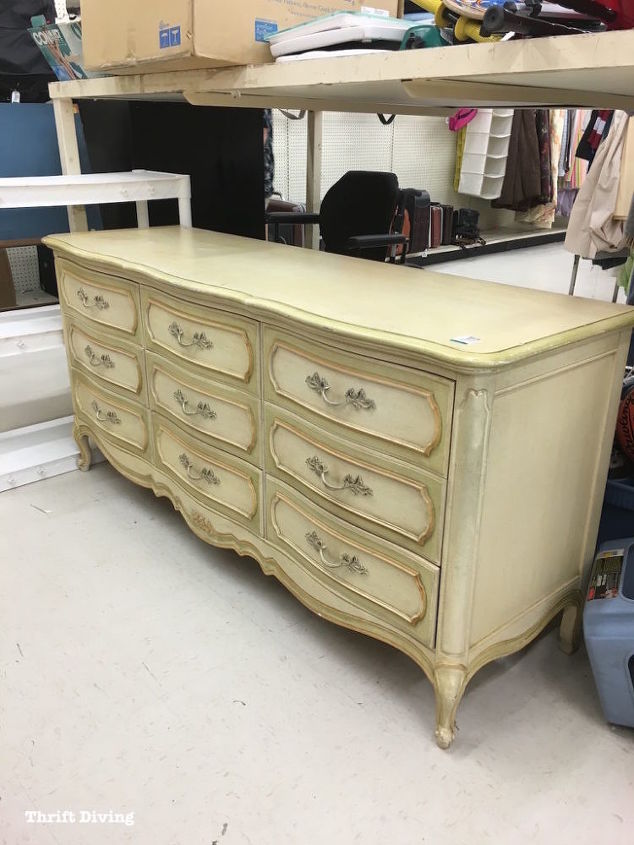 Before after diy dresser makeover french provincial - Painted french provincial bedroom furniture ...