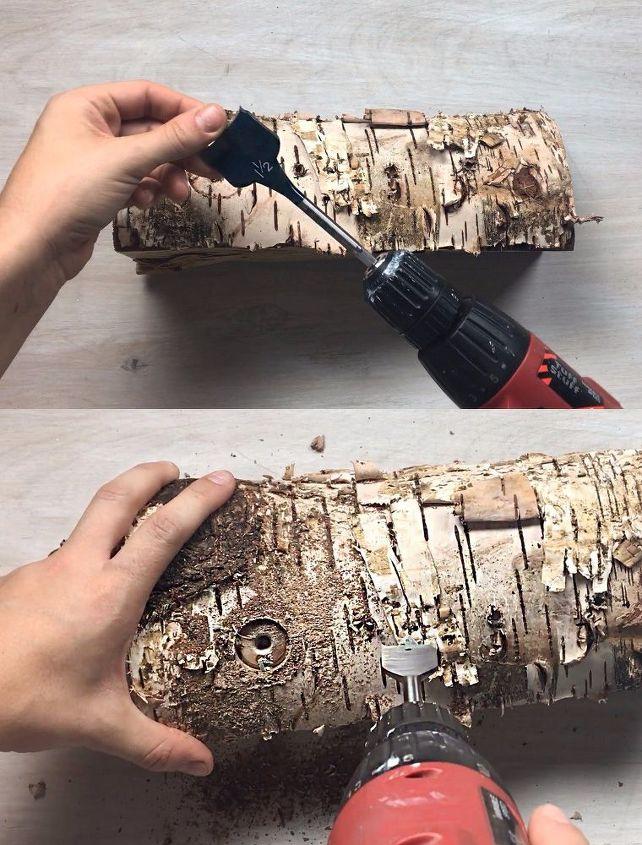 Faux Fireplace Logs | Hometalk