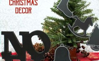 diy chalkboard christmas decor, chalkboard paint, christmas decorations, crafts, home decor