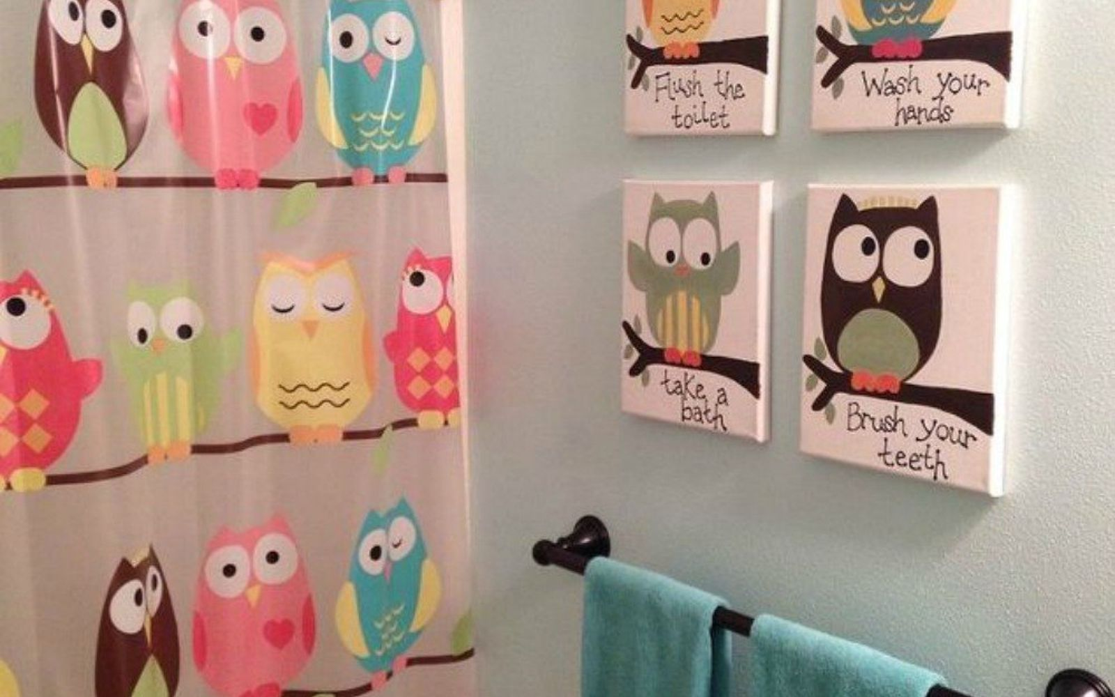 s give your kids the coolest bathroom with these 13 jaw dropping ideas, bathroom ideas, Have a hoot with owl themed decor