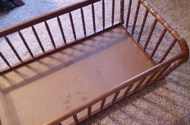 dog bed from a baby cradle hometalk. Black Bedroom Furniture Sets. Home Design Ideas
