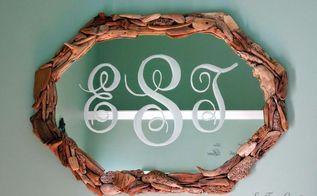 mirror makeover monogram it, home decor