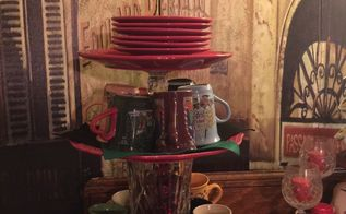 holiday coffee central, painted furniture