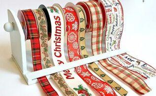 paper towel holder ribbon organizer, crafts, organizing, repurposing upcycling