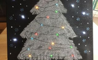 christmas light up canvas art hometalk live diy , crafts