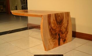 floating waterfall coffee table, painted furniture, ponds water features