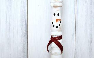 vintage spindle snowmen