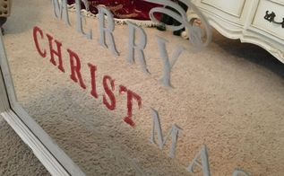 easy christmas diy stamped mirror, home decor
