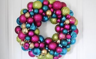 diy ornament wreath, christmas decorations, crafts, seasonal holiday decor, wreaths
