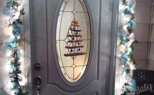 coastal christmas christmas tree driftwood wreath, crafts, wreaths