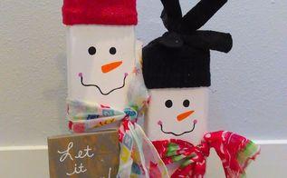 2x4 snowmen porch decor, home decor