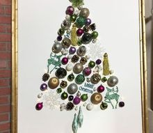 light up ornament tree on canvas, christmas decorations, seasonal holiday decor