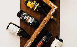 diy industrial wall mounted wine rack