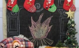 chalkboard fireplace hack, chalkboard paint, crafts, fireplaces mantels